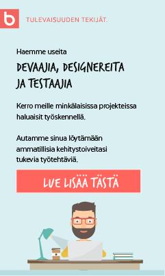 Rekry-devaajia-designereita-testaajia