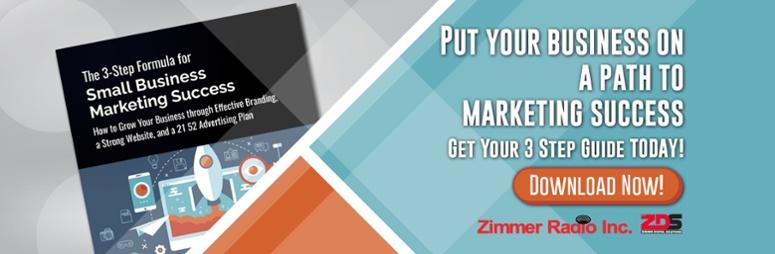 3 Step Formula for Small Business Marketing Success