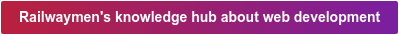 Railwaymen's knowledge hub about web development