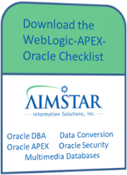 WebLogic-APEX-Oracle-Checklist