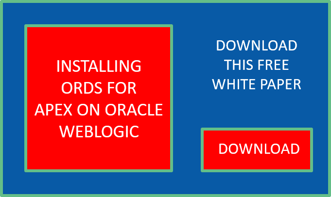 APEX-WebLogic-ORDS White Paper