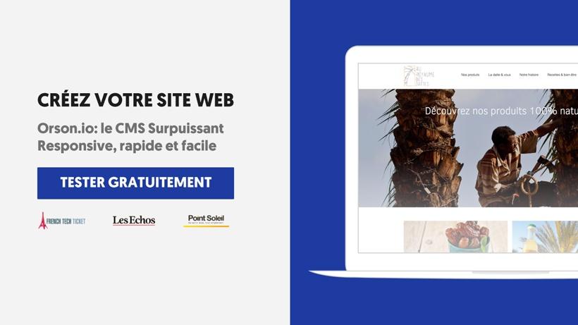 Commencez la création de votre site