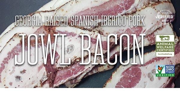 Georgia-raised Spanish Iberico Pork Jowl Bacon
