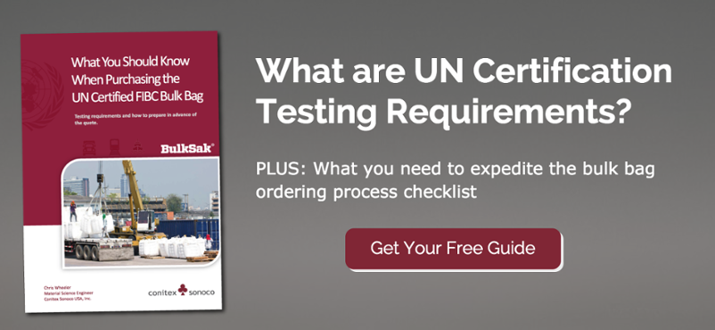 What does it mean to use UN certified FIBC bulk bags? See how this certification can help your business.