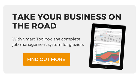Take your business with you Go on the road with Smart-Toolbox,  the complete job management system for glaziers. Find out more