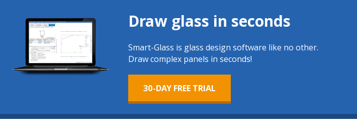 Draw glass in seconds Smart-Glass is glass design software like no other.  Draw complex panels in seconds!  30-day free trial