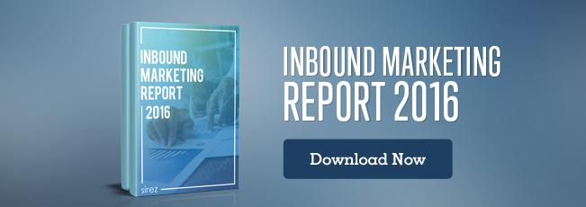 Inbound Marketing Report 2016 for marketing strategies