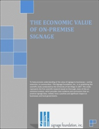 Economic Value of Signs, University of San Diego (1997)