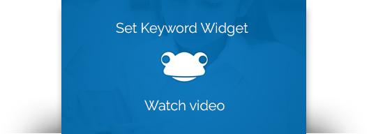 Link to the Set Keyword widget video guide