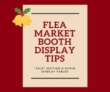 Flea Market Booth Display Tips