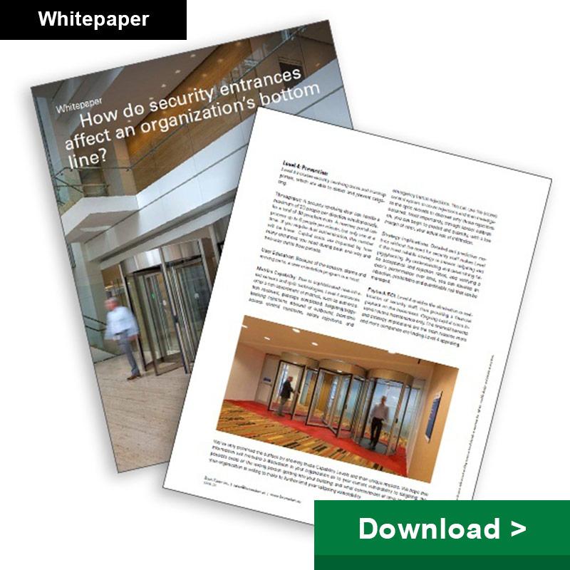 How do security entrances affect an organization's bottom line?