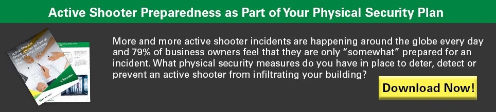 Active Shooter Preparedness as Part of Your Physical Security Plan