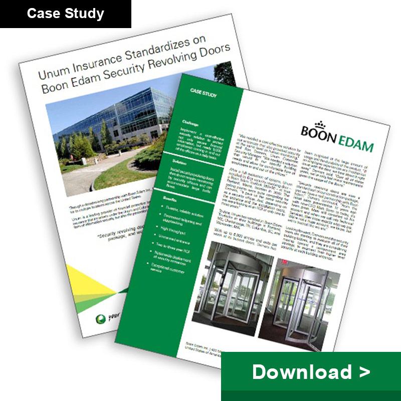 Unum Insurance Standardizes on Boon Edam Security Revolving Doors