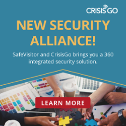New Security Alliance! SafeVisitor and CrisisGo brings you a 360 integrated security solution. Learn more