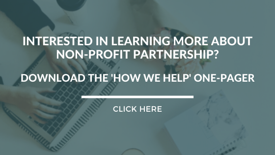 Interested in learning more about nonprofit partnership? Download the 'How We Help' one-pager