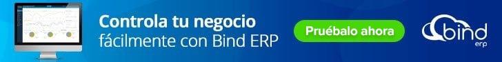 "Banner ""Controla tu negocio fácilmente con Bind ERP"""