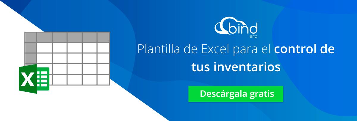Descarga la plantilla de Excel para el control de inventarios.