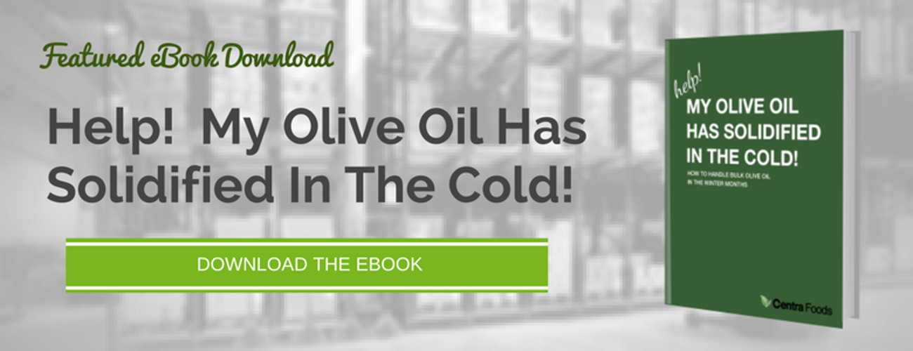 Cold or Frozen Olive Oil in the Winter