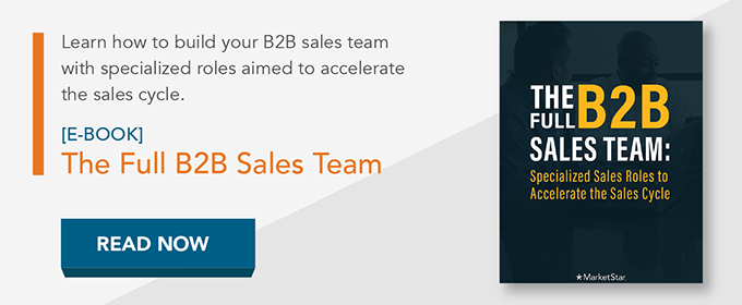 The Full B2B Sales Team e-book read now button