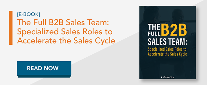 The Full B2B Sales Team: Specialized Sales Roles e-book read now button