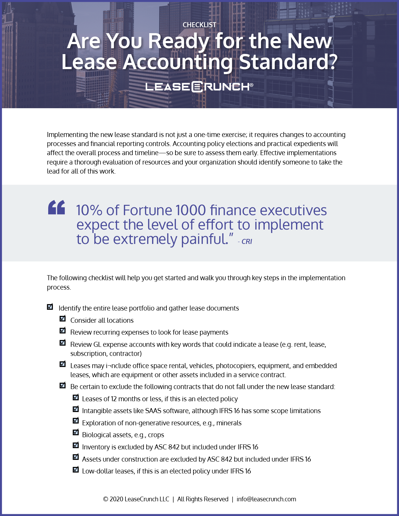 Are you ready for the new lease accounting standard?