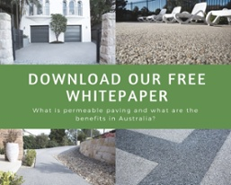 Porous paving benefits whitepaper