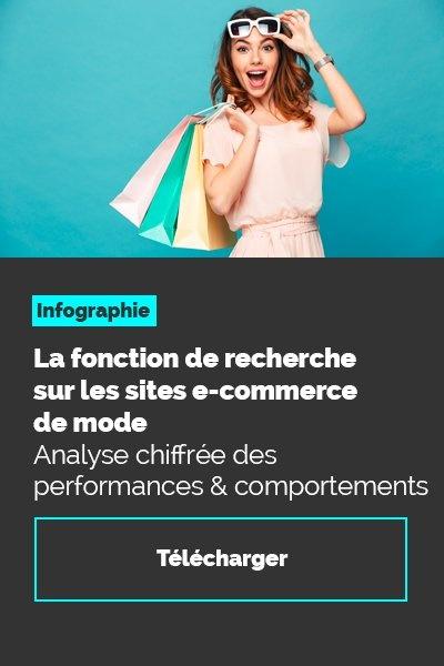 Infographie : la fonction de recherche sur les sites e-commerce de mode