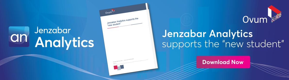 "Jenzanar Analytics supports the ""new student"""