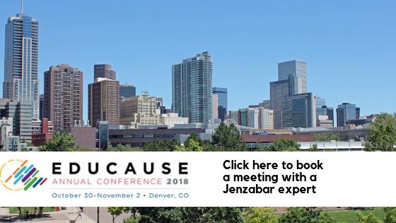 Meet Jenzabar at Educause 2018