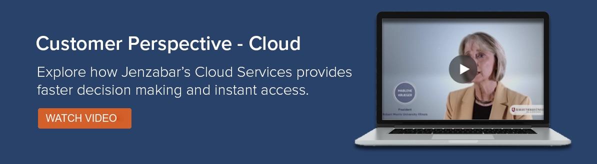 Customer Perspective - Cloud