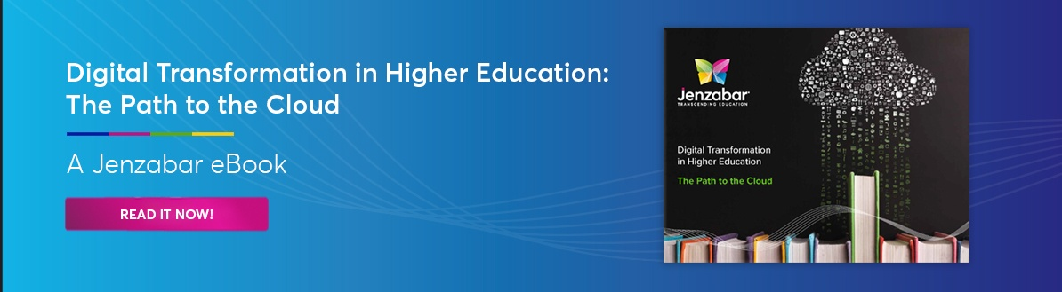 Jenzabar eBook- Digital Transformation in Higher Education: The Path to the Cloud