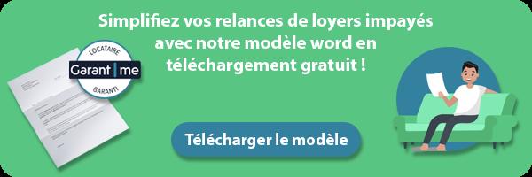 Téléchargement modèle lettre relance loyer impayé