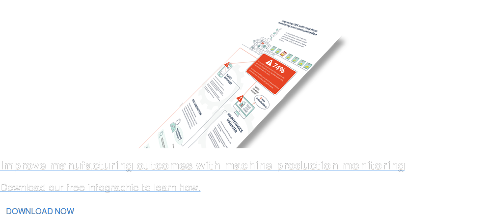 Improve manufacturing outcomes with machine production monitoring Download our free infographic to learn how. DOWNLOAD NOW