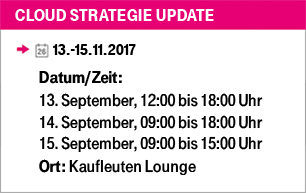 Cloud Strategie Update