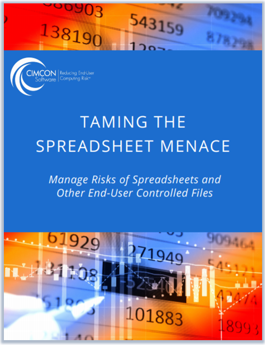 Download our free white paper - Taming the Spreadsheet Menace