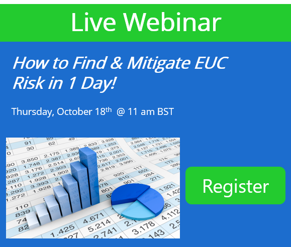 Webinar: Find & Mitigate EUC Risk