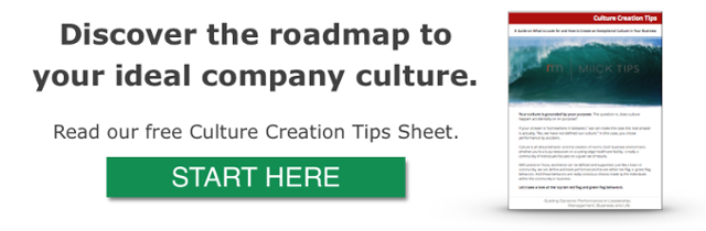 Company Culture Creation Tips Sheet from Miick