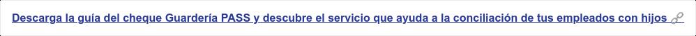 Descarga la guía definitiva del cheque Guardería PASS, descubre el servicio que ayuda a facilitar la concilación laboral y familiar en las empresa