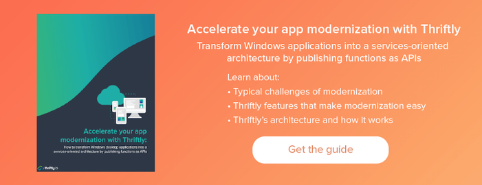 get the guide: accelerate your app modernization with Thriftly