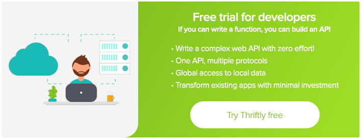 Free Forever Developer Trial - Thriftly.io
