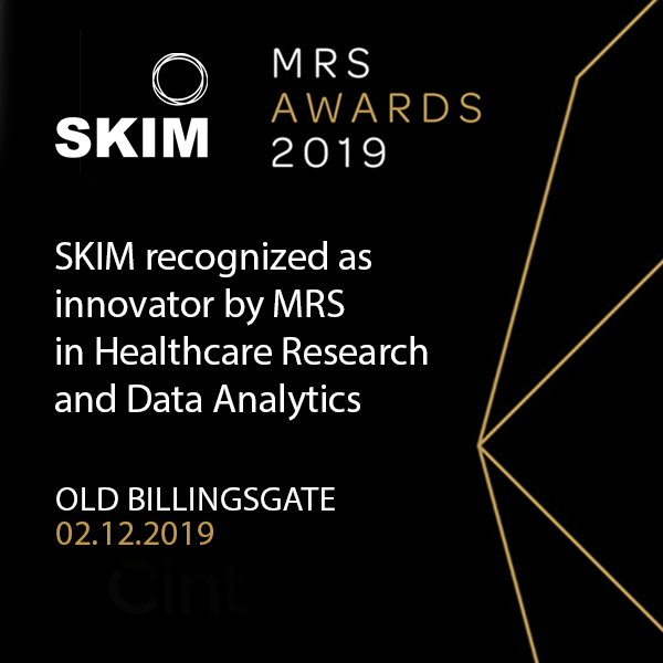 SKIM recognized as innovator by MRS in Healthcare Research and Data Analytics