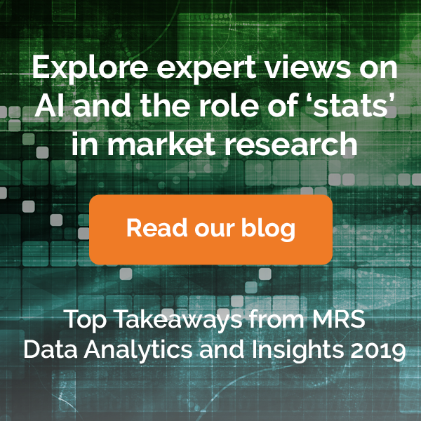 expert views on AI and roles of statistics in market research
