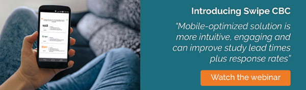 SKIM Mobile Swipe CBC - mobile friendly conjoint research webinar