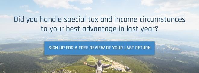 Sign up for a free review of your last return
