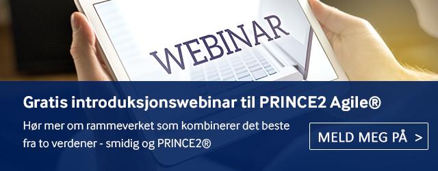 Delta på vårt gratis introduksjonswebinar for å lære mer om PRINCE2 Agile