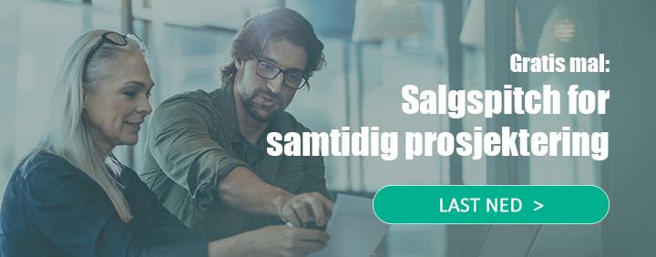 Last ned gratis mal for salgspitch for samtidig prosjektering