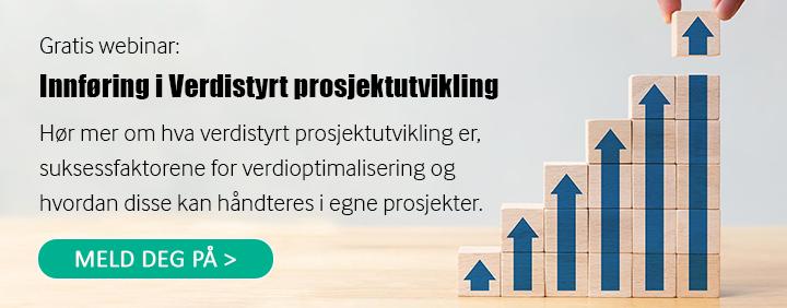 Meld deg på gratis webinar om Verdistyrt prosjektutvikling