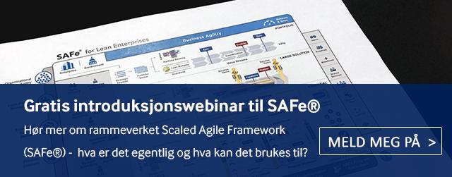 Delta på vårt gratis introduksjonswebinar for å lære mer om Scaled Agile Framwork