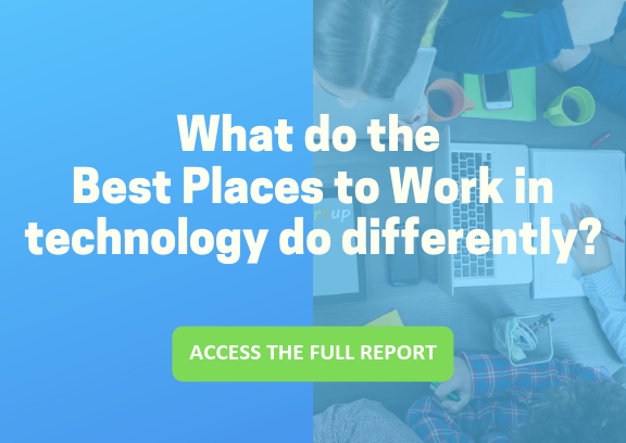 Download the employee engagement industry spotlight report on technology employers