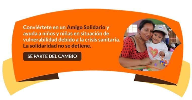 Conviértete en Amigo Solidario y ayuda a niños y niñas en situación de vulnerabilidad.